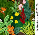 vector seamless vintage pattern.... | Shutterstock .eps vector #462378280