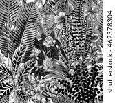 vector seamless vintage pattern.... | Shutterstock .eps vector #462378304