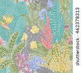 vector seamless vintage pattern.... | Shutterstock .eps vector #462378313
