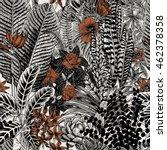 vector seamless vintage pattern.... | Shutterstock .eps vector #462378358