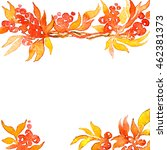 colorful autumn leaves wreath... | Shutterstock . vector #462381373