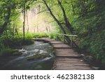 wooden path across river in... | Shutterstock . vector #462382138