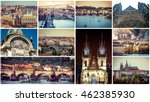 collage of different... | Shutterstock . vector #462385930