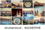 collage of different... | Shutterstock . vector #462385948