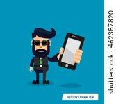 business man hold smartphone | Shutterstock .eps vector #462387820