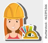 woman architecture rules color...   Shutterstock .eps vector #462391366