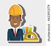 man helmet rules color vector...   Shutterstock .eps vector #462391579