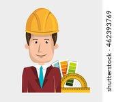 man helmet rules color vector...   Shutterstock .eps vector #462393769