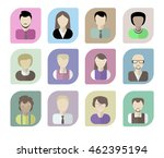 office workers avatars on a... | Shutterstock . vector #462395194