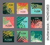 set of dark colors  abstract...   Shutterstock .eps vector #462401803