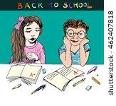 back to school. honors.... | Shutterstock .eps vector #462407818