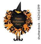 halloween set.wreath.halloween...   Shutterstock .eps vector #462416599