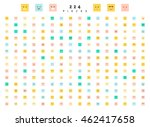 great set of 224 color emotion... | Shutterstock .eps vector #462417658