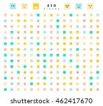 cute emoji. great set of 210... | Shutterstock .eps vector #462417670