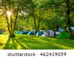 tents camping area  early... | Shutterstock . vector #462419059