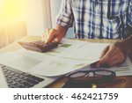 asian business man using a... | Shutterstock . vector #462421759