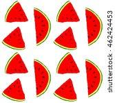 fresh melon watermelon pattern... | Shutterstock . vector #462424453