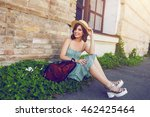 sunny lifestyle fashion... | Shutterstock . vector #462425464