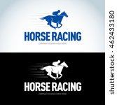 horse racing logotype template  ... | Shutterstock .eps vector #462433180