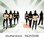fashion show vector | Shutterstock .eps vector #46243348