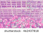 woven bamboo fence  soft focos... | Shutterstock . vector #462437818