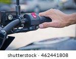 hand pressing the start button... | Shutterstock . vector #462441808