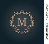 vintage monogram template   Shutterstock .eps vector #462442840