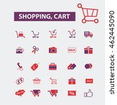 shopping cart icons | Shutterstock .eps vector #462445090