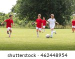 young boys on the football... | Shutterstock . vector #462448954