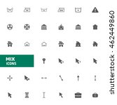 web site mix vector icons set.... | Shutterstock .eps vector #462449860
