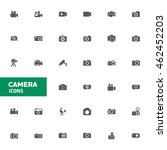 camera icon set for web and...