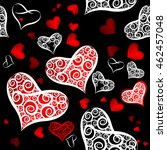 background of seamless hearts... | Shutterstock .eps vector #462457048