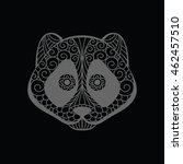 panda head doodle zentangle on... | Shutterstock . vector #462457510
