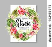 baby shower invitation template ... | Shutterstock .eps vector #462459976
