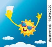 summer selfie vector concept...   Shutterstock .eps vector #462462220