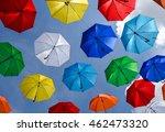 Multicolored Umbrellas Hanging...