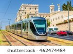 Tram On The Light Rail In...