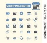 shopping center icons | Shutterstock .eps vector #462475543