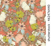 seamless pattern design with... | Shutterstock .eps vector #462476440