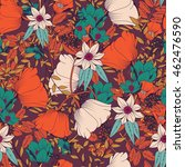 seamless pattern design with... | Shutterstock .eps vector #462476590