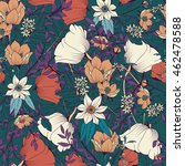 seamless pattern design with... | Shutterstock .eps vector #462478588