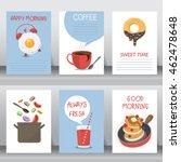 happy breakfast background. use ... | Shutterstock .eps vector #462478648