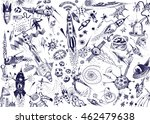 space background with a large... | Shutterstock . vector #462479638