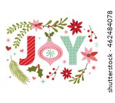 Christmas Wreath With Joy...