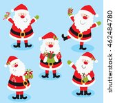 santa claus sets | Shutterstock .eps vector #462484780