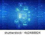 digital abstract technology... | Shutterstock . vector #462488824