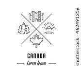 vector logo canada. hipster...   Shutterstock .eps vector #462491356
