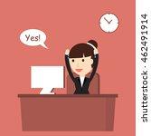 businesswoman enjoys success.... | Shutterstock .eps vector #462491914