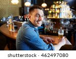 people  drinks  alcohol and... | Shutterstock . vector #462497080