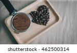 heart from coffee beans and... | Shutterstock . vector #462500314